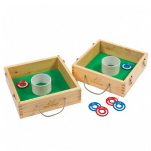 NEW Washer Toss Lawn Game - solid wood case