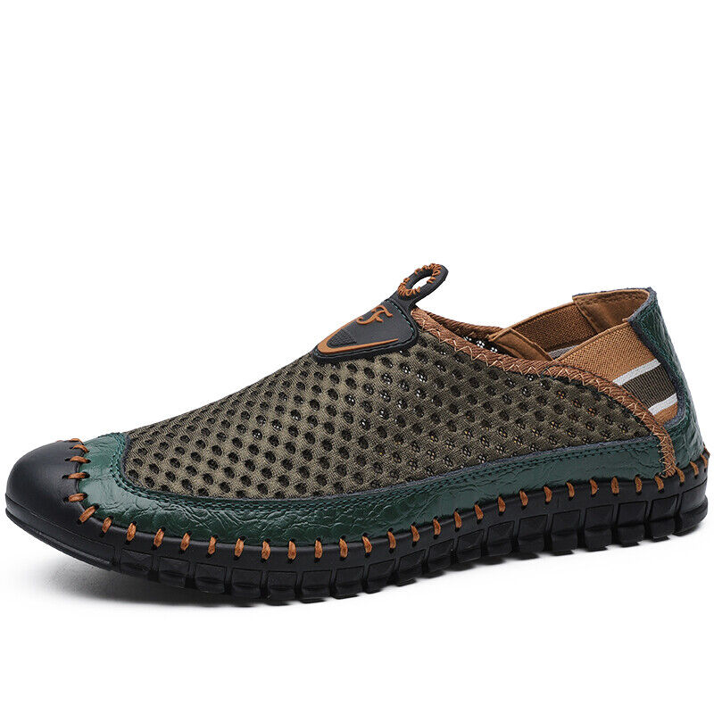 Water Shoes Men/'s Beach Shoes Slip On Fast Dry Swim Mesh Casual Shoe Plus Size