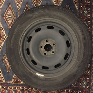 4x Steel VW Golf Rims with Winter Tires
