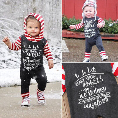Christmas Boys (Christmas Baby Girls Boys Long Sleeve Hoodies Romper Outfits Clothes US)