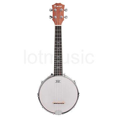 kmise 4 string banjo ukulele uke banjo lele concert 23. Black Bedroom Furniture Sets. Home Design Ideas