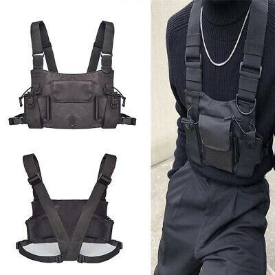 Tactical Chest Rig Bag Vest Hip Hop Shoulder Bag Men and Women Adjustable Packs