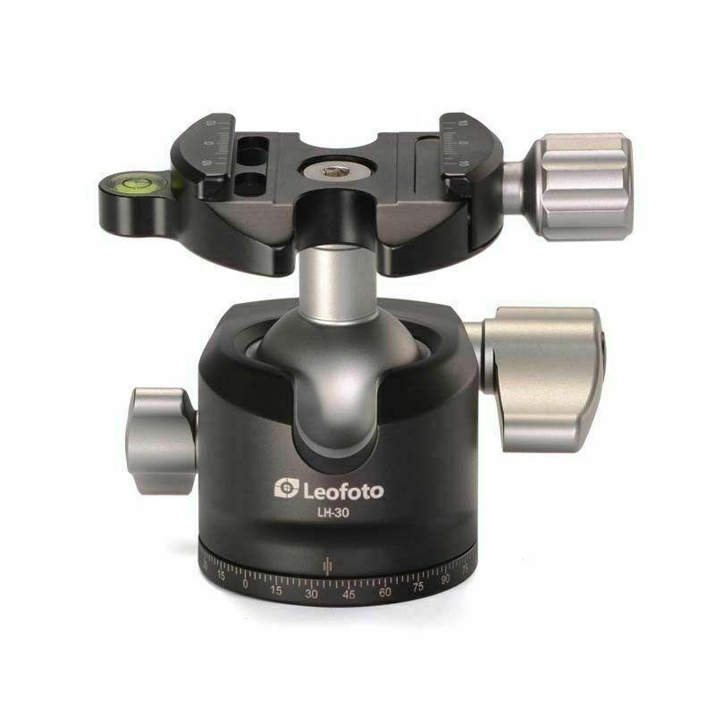 No BOX LEOFOTO LH-30 30mm Low Profile Ball Head Arca / RRS Compatible w Pan Lock
