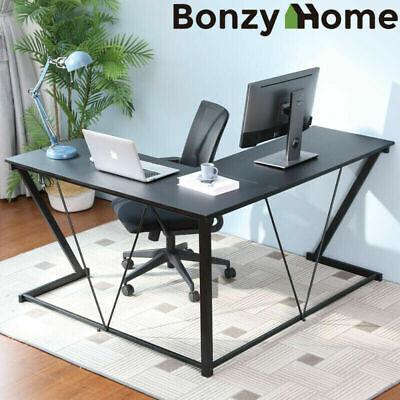 L-shaped Gaming Desk Computer 57 Home Office Corner Study Table Workstation