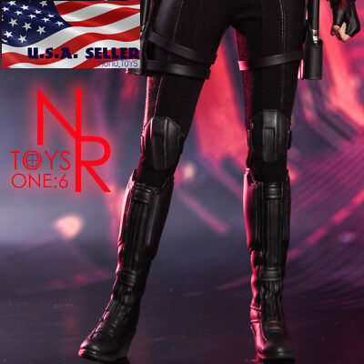 1/6 Black Widow Women Combat Boots For 12
