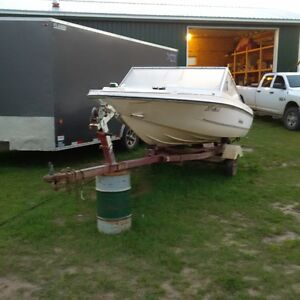 Boat and trailer, no motor