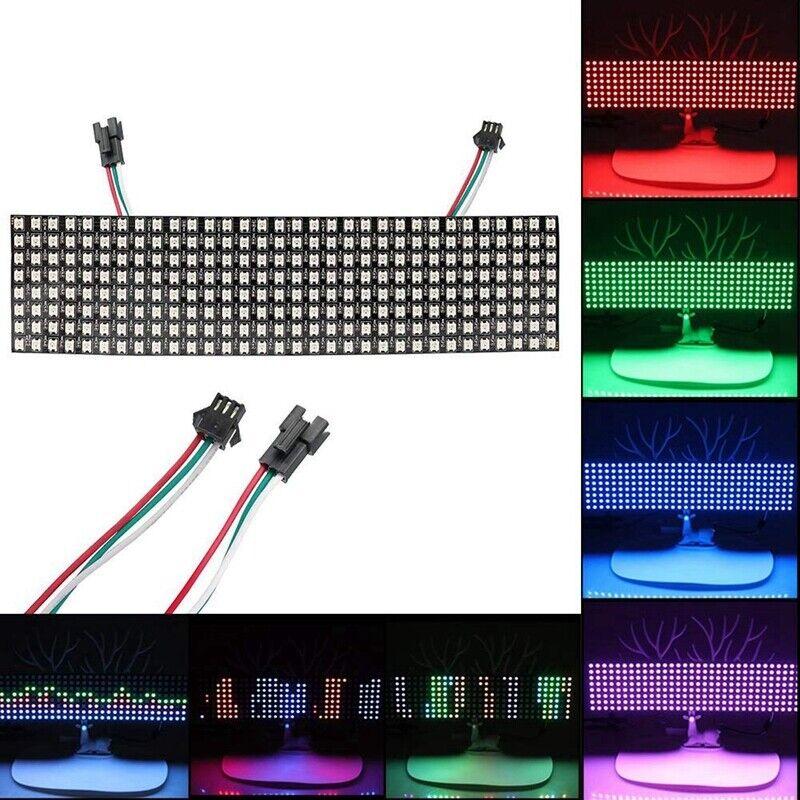 LED Matrix Panel, WS2812B RGB 832 Pixels Digital Flexible Dot Matrix Indivi I2J6