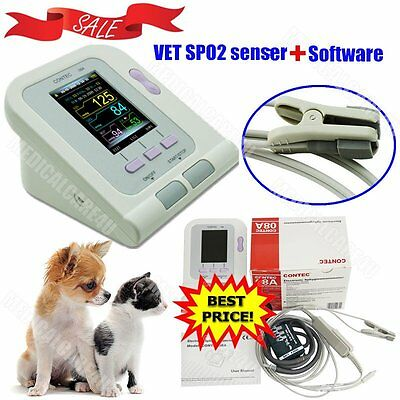 Contec Veterinary Digital Blood Pressure Monitor With Spo2 Vet Sensornibp Pr Sw