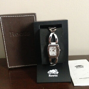 Brand New Roots Ladies Chrome Silver Colour Watch Retail $115