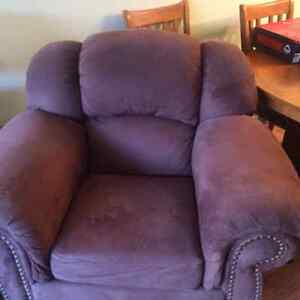 Brown Fabric Chair and Ottoman Kitchener / Waterloo Kitchener Area image 2