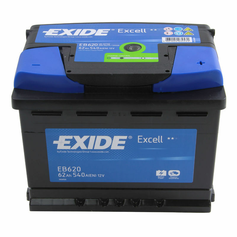 Exide Excell Type 027 EB620 Automotive Battery