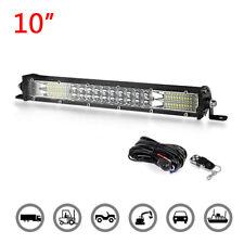 10inch Dual Row Slim LED Light Bar Combo Spot Flood