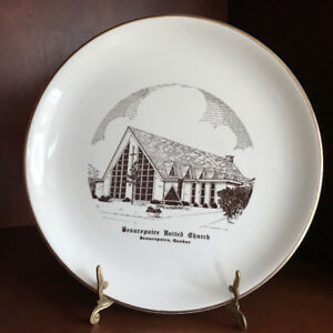 Historical Collectible Plate Beaurepaire united church Quebec