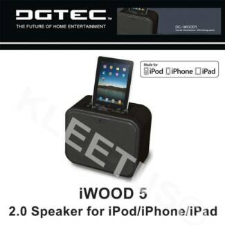 DgTec iWood5 2.0 Speaker Clock Alarm Remote for iPod iPhone iPad Hurstville Hurstville Area Preview