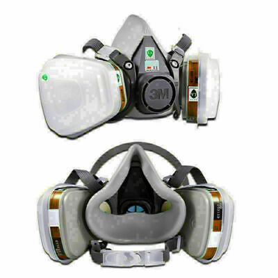 7 In 1 Suit 6200 7502 Paint Spray Gas Mask Safety Work Respirator