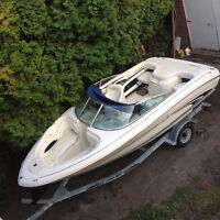 1999 Sea Ray Signature 190 19 ' with trailer for sale.