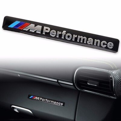 3D Aluminum ///M performance Car Emblem Badge Sticker Decal Fit For BMW Black