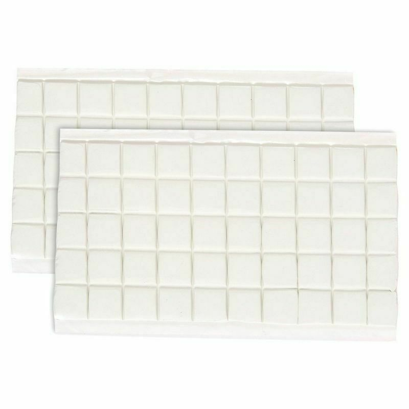 """100 Adhesive Putty Sticky Tack Putty for Mounting Square Tabs - 3"""" x 5.9"""" x .08"""""""