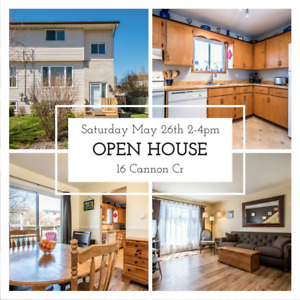 OPEN HOUSE Saturday May 26th 2-4pm! 16 Cannon Cr, Only $160,000