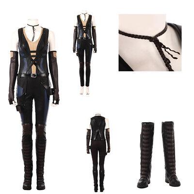 Deadpool 2 Costume Domino Costume Women Neena Thurman Cosplay Costume Halloween