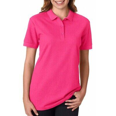 Gildan Women's Premium 100% Cotton Short Sleeve Double Pique Polo Shirt. -