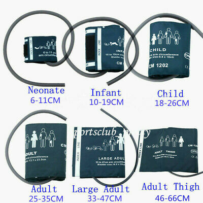 6pcs Blood Pressure Cuffs Set For Patient Monitor System Nibp Abpm Single Tube