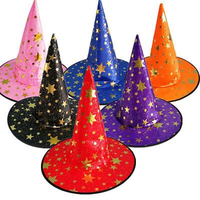 Halloween Hexe Hut Kostüm Party Glitter Stern Dekoration Hexe Hut Cospaly Prop