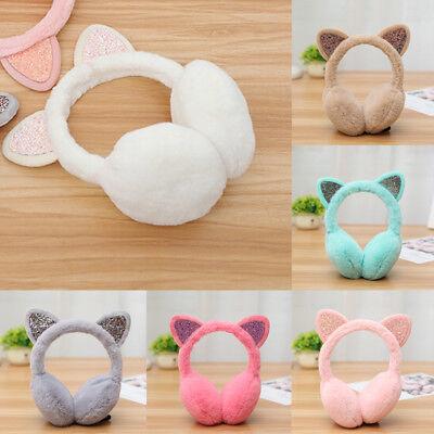 Girl Winter Cat Earmuffs Fur Warm Women Ear Protect Cute Faux Soft Fluffy Earcap ()