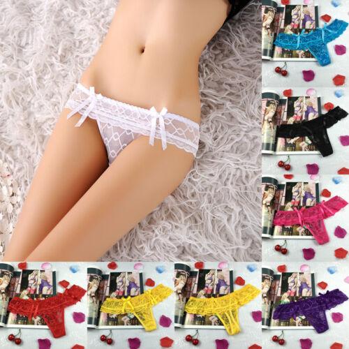 Women Lace Lingerie G-string Briefs Underwear Panties T string Thongs Knickers