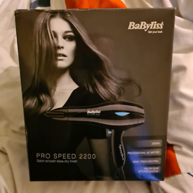Babyliss pro speed 2200 hair dryer All in the box new