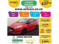 2016 RED FORD FIESTA 1.0 ECOBOOST RED EDITION ZETEC S 3DR CAR FINANCE FR £37 PW