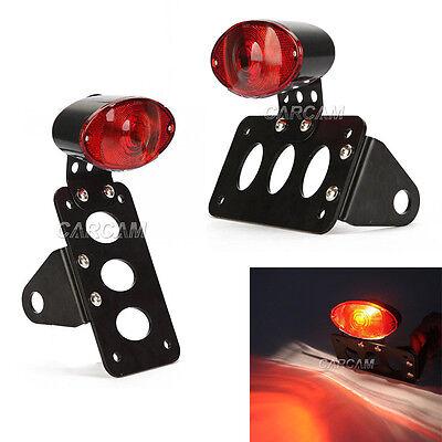 Side Mount License Tail Light Plate Bracket For Harley Bobber Chopper Custom