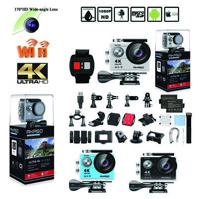 Akaso EK7000 WiFi FHD 4K Waterproof Sports Action Camera DV  Cam Camcorder 12MP