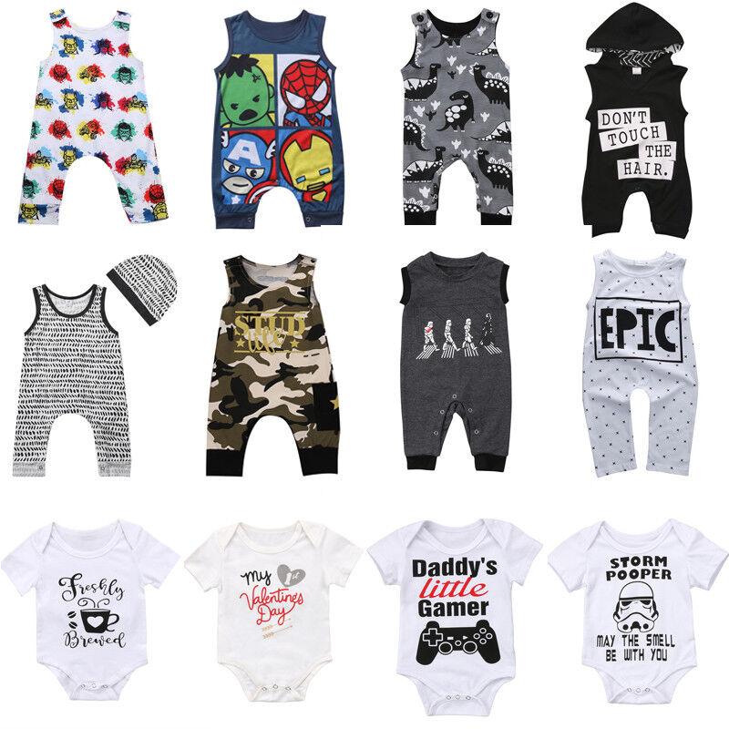 Newborn Infant Kid Baby Boy Girl Romper Bodysuit Jumpsuit Clothes Outfits US