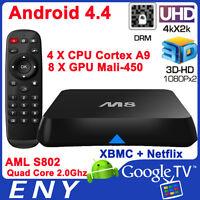 M8 Quad Core S802 4K Android Smart TV Box 2GB RAM KODI IPTV