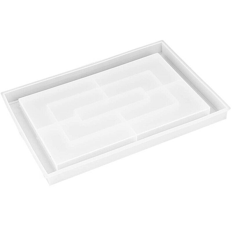 1X(Resin Mold Silicone Large Rectangle Rolling Tray Molds for Epoxy Resin Resin