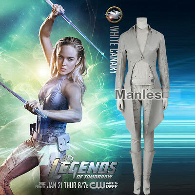Green Arrow Womens Costume (DC's Legends of Tomorrow Costume White Canary Cosplay Sara Lance Green)