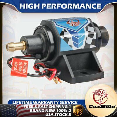 "Universal Advanced Fuel Pump Electric Gas Diesel Inline Low Pressure 3/8"" 5-9PSI"