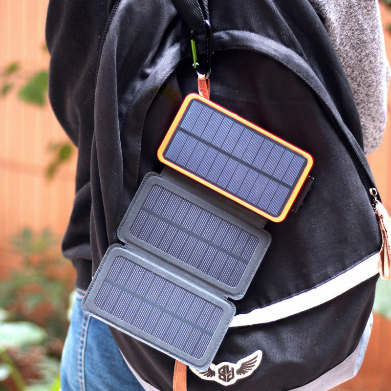 Waterproof 300000mAh Solar Panel External Battery Charger Po