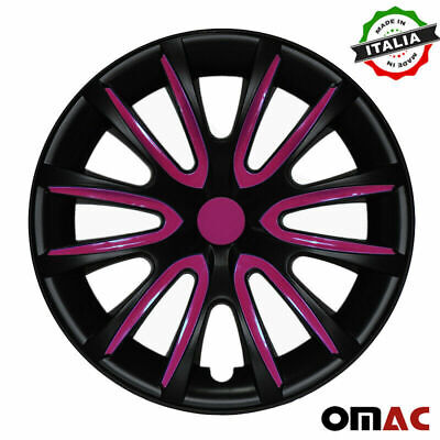 "16"" Inch Hubcaps Wheel Rim Cover For Suzuki Matt Black Violet Insert 4pcs Set"