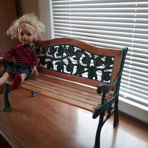 Wrought Iron Bench Doll Size