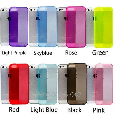 Thin Clear Soft Gel Silicone Crystal Case Cover Protector For Apple iPhone 5 5S  Soft Crystal Case