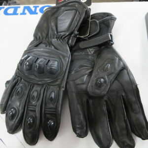 Leather and Goat Skin Motorcycle Race Track Gloves