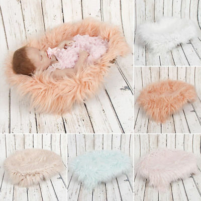 DIY Baby Photo Props Backdrop Newborn Photography Soft Fur Quilt Mat Blanket Rug ()