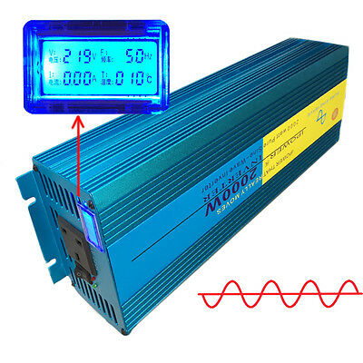 LCD DISPLAY 2000W/4000W Peak Pure Sine Wave Power Inverter DC 12V to AC 220V Car