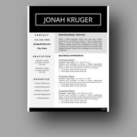 Creative Resume Templates for Microsoft Word - CV Template
