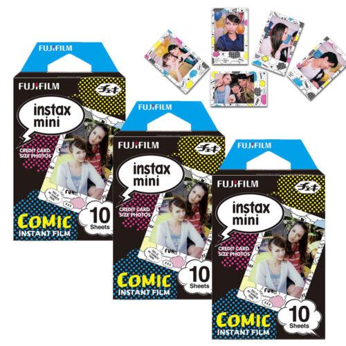 Fujifilm Instax Mini Film Instant Photo 30 Sheets Comic For Fuji 9 8 70 90 SP-2