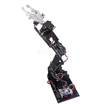 New 6 Dof Aluminium Robot Arm Clamp Claw Mount Kit For Arduino