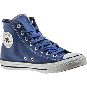 Converse All Star Electric Blue Leather Hi-Top Sneaker Brand NEW