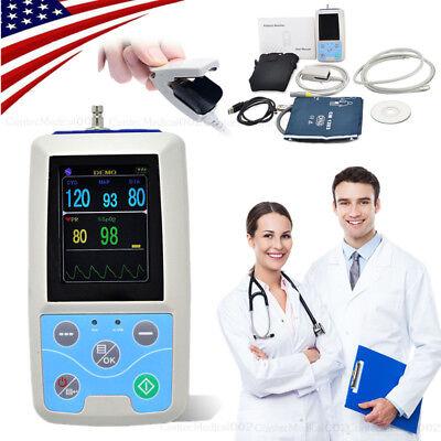 Portable Patient Monitor Vital Signs Nibp Spo2 Pulse Rate Color Monitor Software